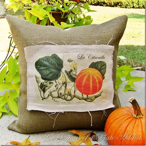 Confessions of a Plate Addict's Vintage French Pumpkin Pillow