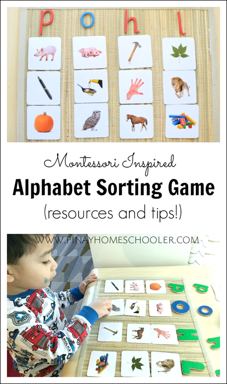 Sorting Game Using Alphabet Sound Cards