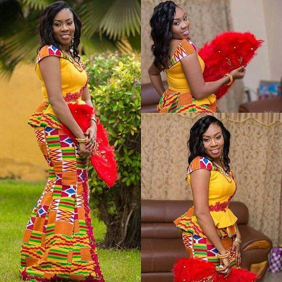 Chitenge Outfits With Lace 2017 / 2018