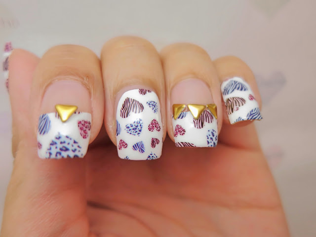 Animal Prints Heart Shapes Nail Art Nail Wrap MDS1031