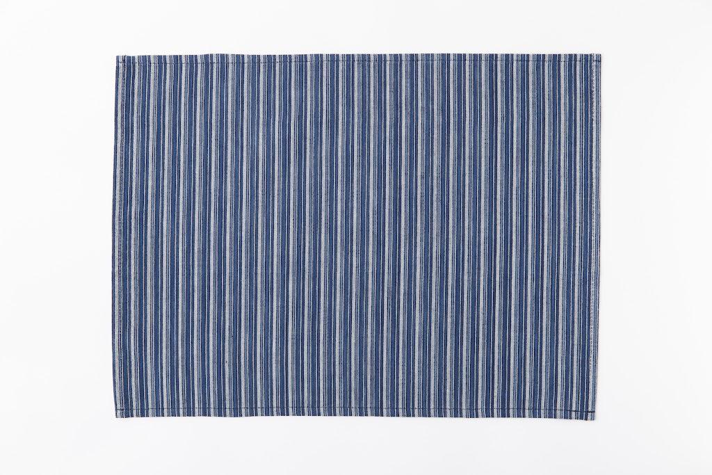 Matsusaka Shimaco Luncheon Mat Shimashima-Ao (Stripe x Blue)