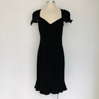 Prada Black Cap Sleeve Dress