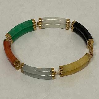 14K Gold & Jade Bracelet