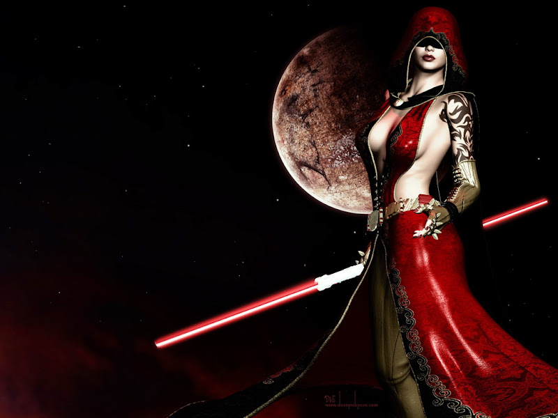 Red Sphere At Night Girl, Warriors