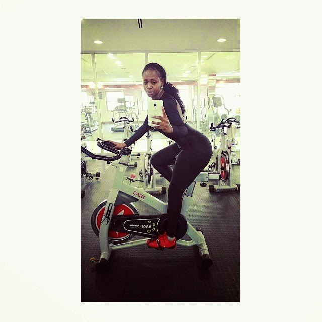 Liloca Flaunts Her Curvy Body At  The Gym