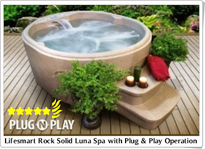 Lifesmart Rock Solid Luna Spa with Plug & Play Operation /hot tub reviews