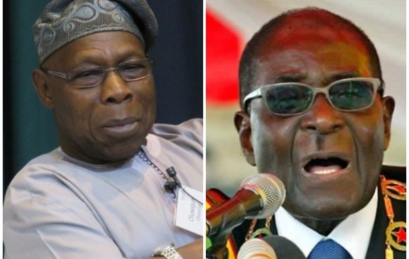 Breaking: See How Obasanjo reacts to Mugabe's death