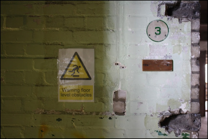 Warning floor level obstacles - Millennium Mills