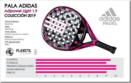 Análisis Adidas Adipower Light 1.9 apuesta segura para el 2019: control, manejabilidad y diseño exquisito PLANETA PADEL WEB
