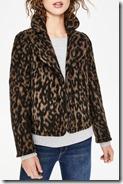 Boden Short Leopard Print Jacket