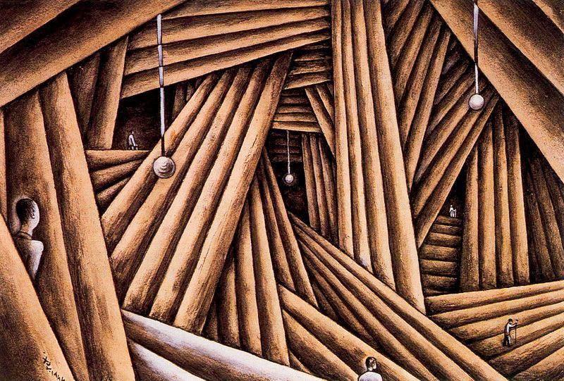 Alejandro Xul Solar - Cavernas y troncos