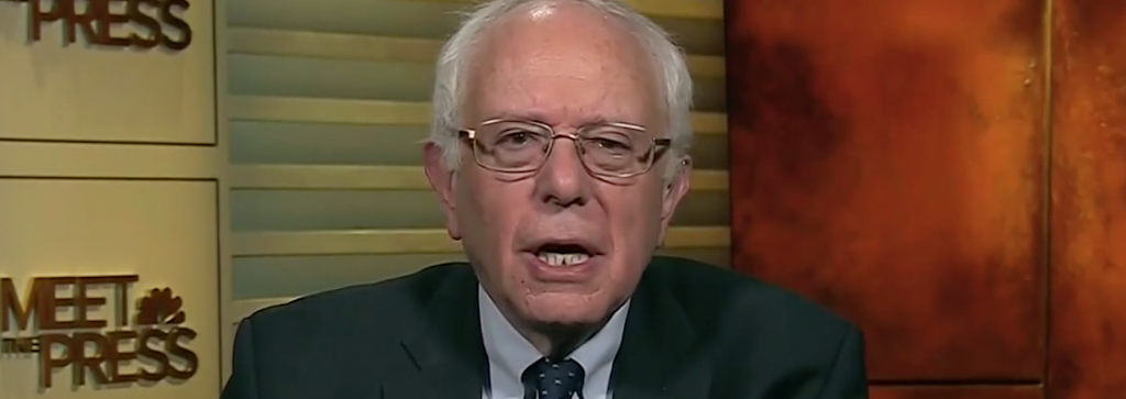 Bernie Sanders frankly promises a tax hike and a restriction on freedom