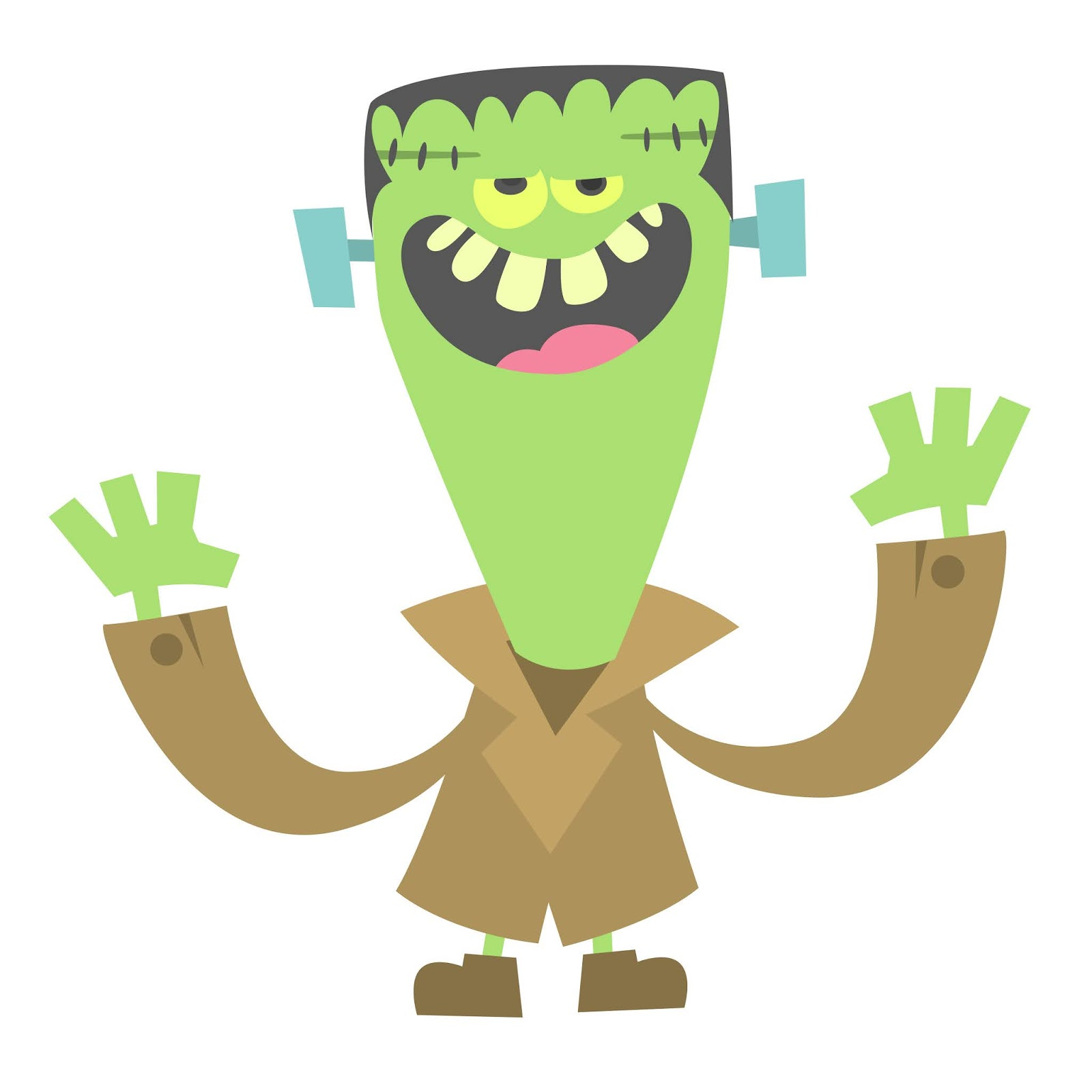 Cartoon Funny Green Zombie Free Download Vector CDR, AI, EPS and PNG Formats