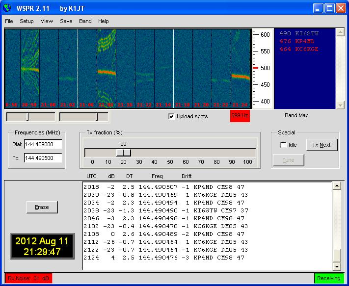 Suspected aircraft wingtip vortex echoes