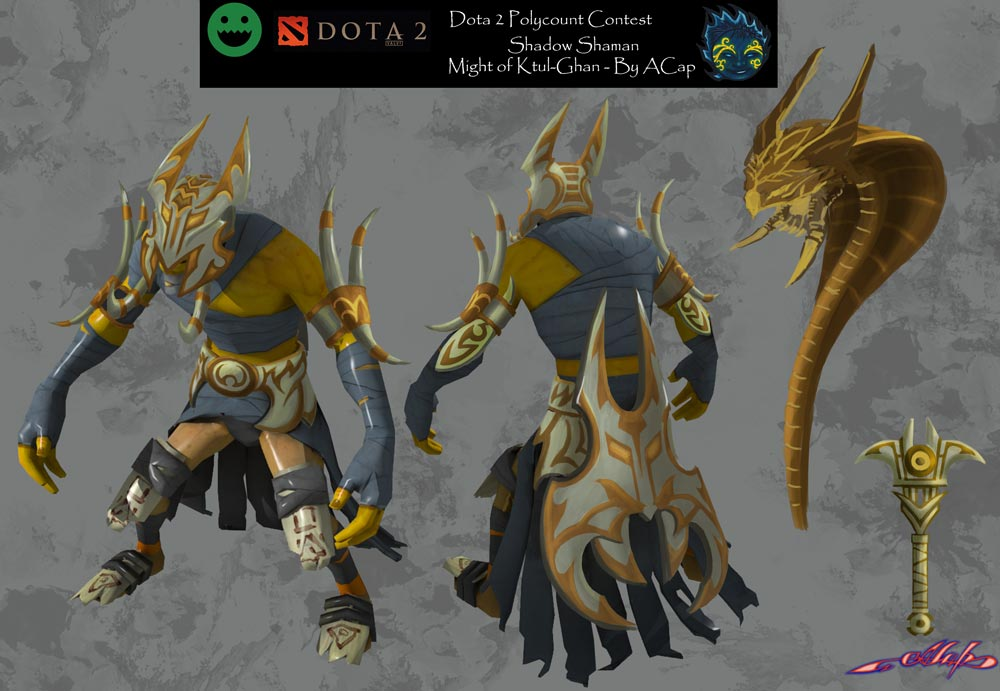 dota2 shadow shaman might of ktul ghan polycount