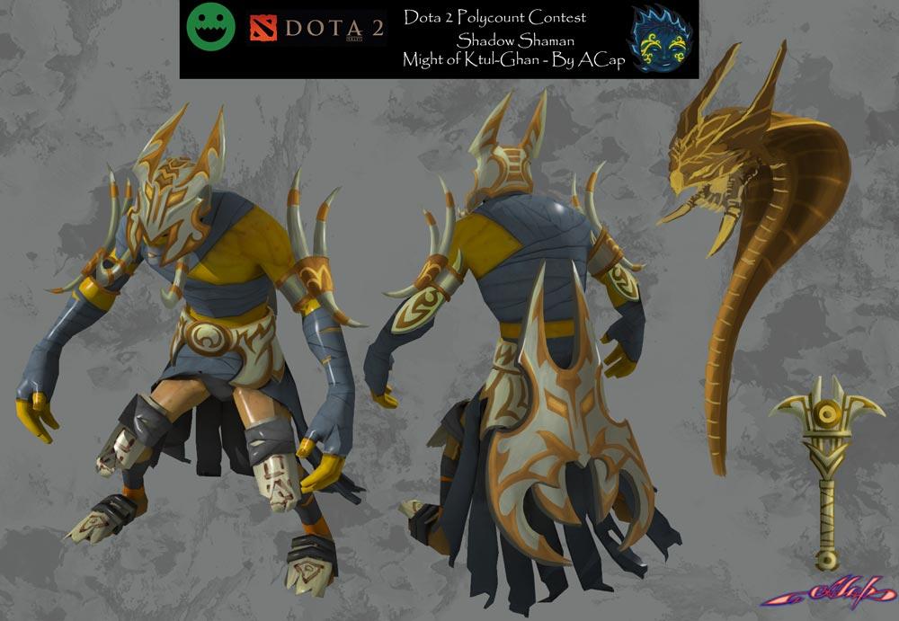 dota2 shadow shaman might of ktul ghan polycount