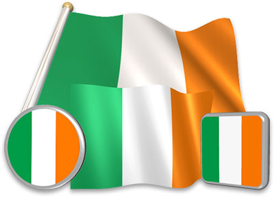 Irish flag animated gif collection