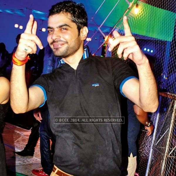 Gaurav Narang during a rain dance party in Kanpur.