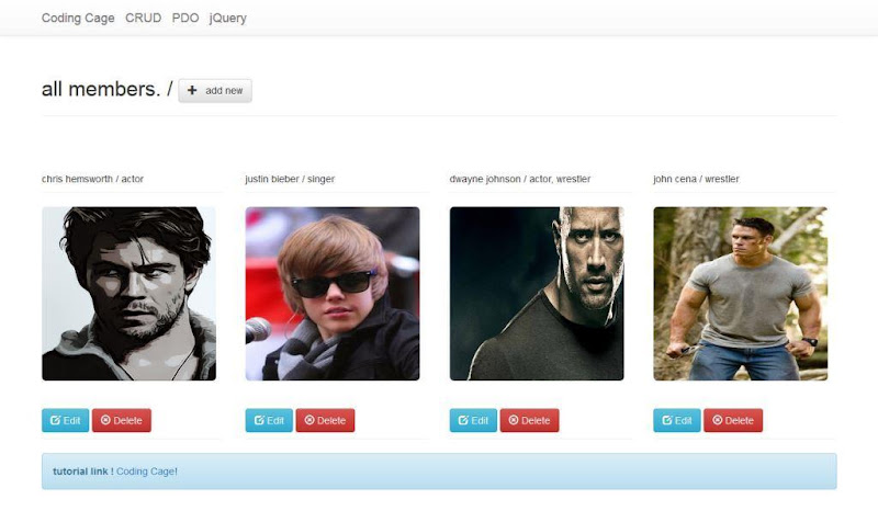 Creating Image Gallery using PHP MySQL