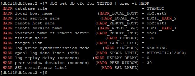 DB2 HADR Configuration