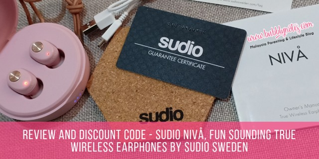 REVIEW AND DISCOUNT CODE - SUDIO NIVA, FUN SOUNDING TRUE WIRELESS EARPHONES BY SUDIO SWEDEN