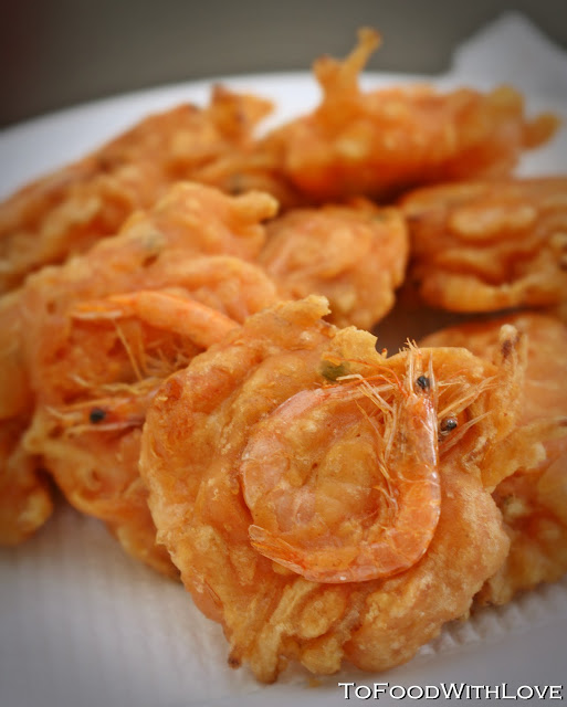To Food with Love: Cucur Udang (Prawn Fritters)