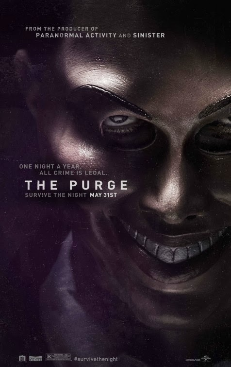 Poster Of English Movie The Purge (2013) Free Download Full New Hollywood Movie Watch Online At Alldownloads4u.Com