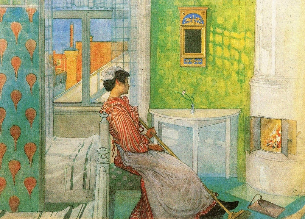 Carl Larsson - Martina In Front Of The Fire