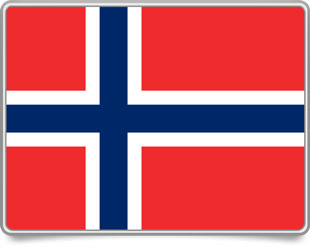 Norwegian framed flag icons with box shadow