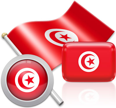 Tunisian flag icons pictures collection