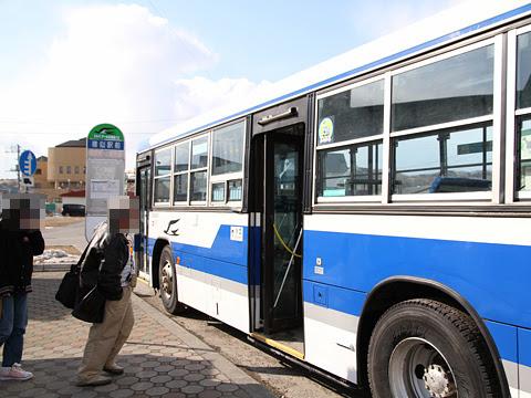 ジェイ・アール北海道バス 日勝線 531-8311 様似駅にて
