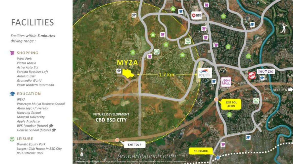 Peta Lokasi Myza BSD