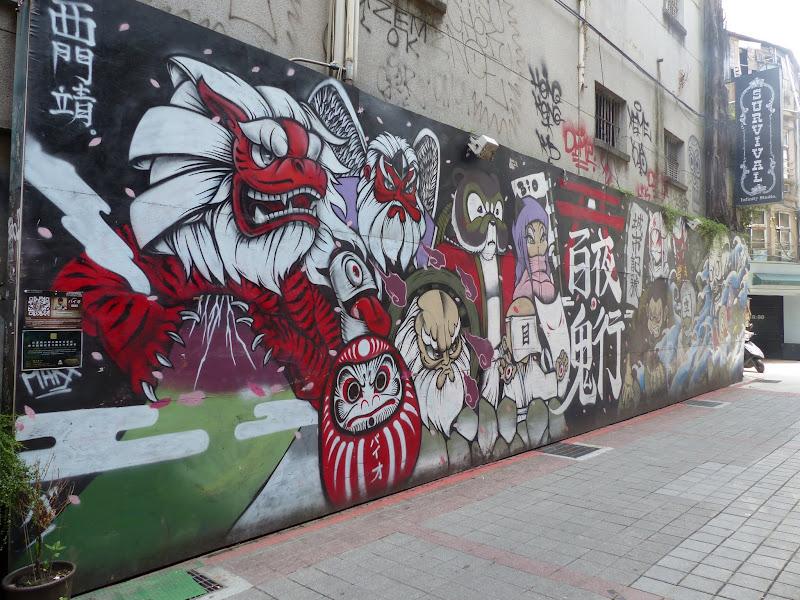 Taipei. Street art à Ximen et Youth park - P1250139.JPG