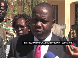CS Matiang' Talk tough on the teachers who cane their pupils.