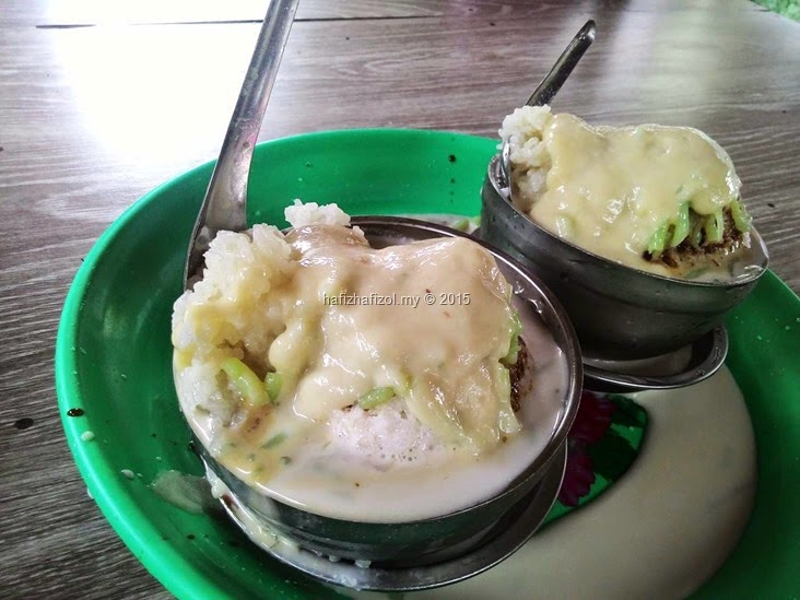 cendol bakar pulut durian