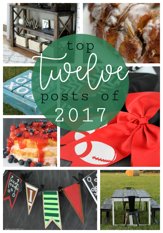 top 12 posts of 2017 at GingerSnapCrafts.com #topposts #gingersnapcrafts