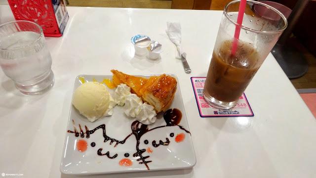 dessert and coffee at a maid cafe in Akihabara, Tokyo in Akihabara, Tokyo, Japan