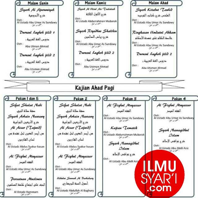 Informasi Jadwal Kajian Sunnah di Cileungsi