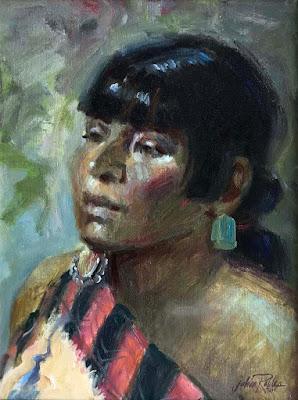 """""""Tesuque Pueblo Lady"""""""