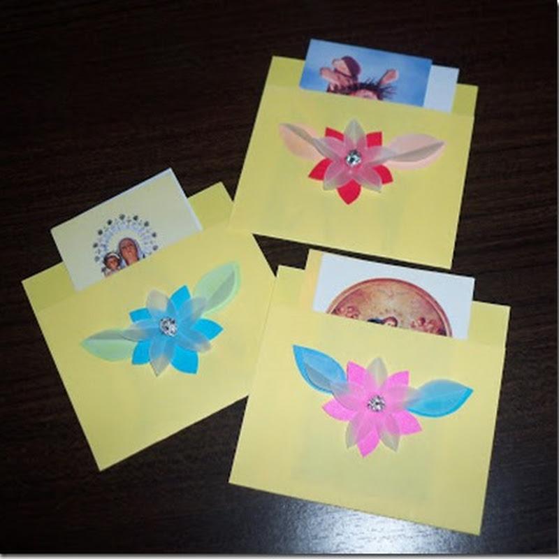 Manualidades día de la madre sobre con flor muy fácil