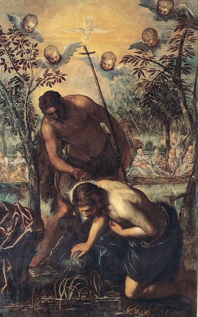 Tintoretto - Baptism of Christ