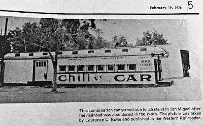 from 1976 news article on Stone Canyon RR
