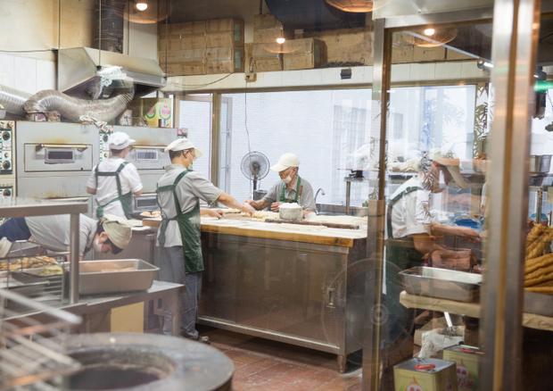 photo of inside the kitchen at Fu Hang Dou Jiang