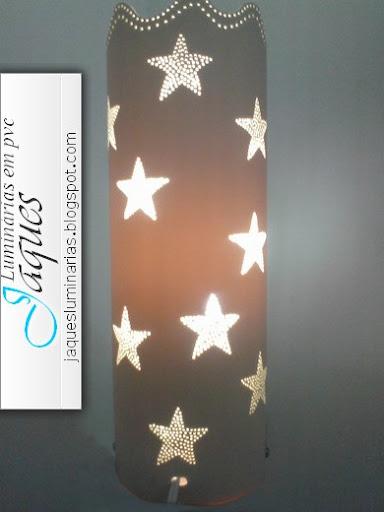 luminária de pvc estrelas