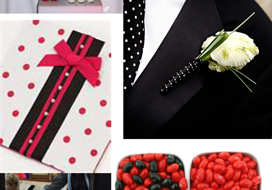 Weddingzilla: Red and Black Polka Dot Wedding Theme ...