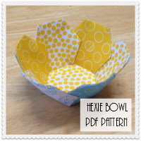 Hexie Bowl PDF Pattern