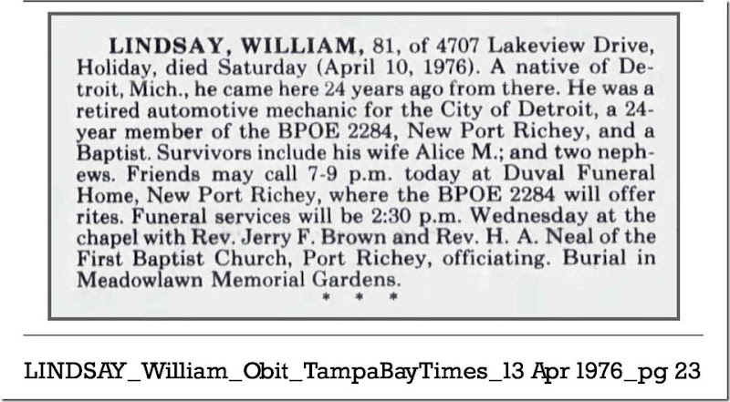 LINDSAY_William_Obit_TampaBayTimes_13 Apr 1976_pg 23_cropped