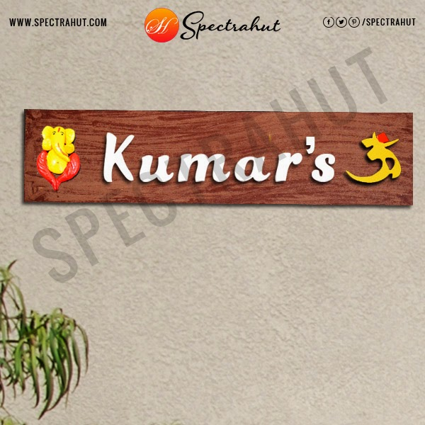 Custom Wooden Name Plates. Give your Home a Personalized name with ...