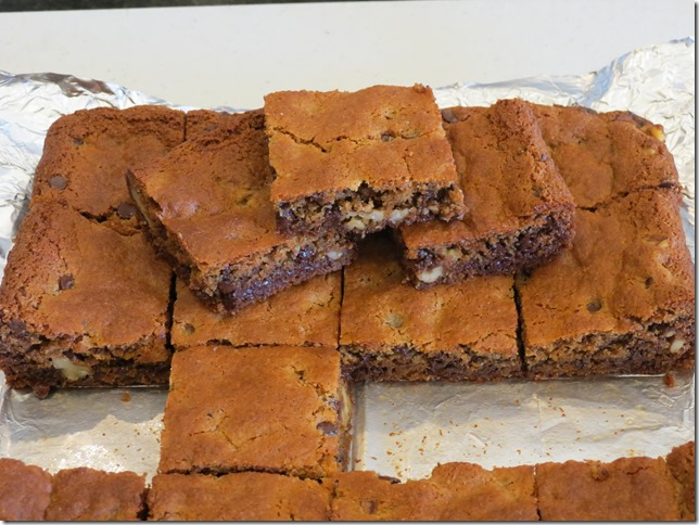 Chocolate Chip Walnut Blondies, Grain Free, Refined Sugar Free (2)