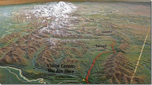 3D Map at Visitor's Center, Denali National Park